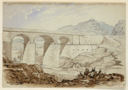 Sohawa Bridge and Cutting on the Peshawar Road (N.W.F.P.). 3 March 1860